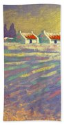 Snow Scape County Wicklow Beach Towel by John  Nolan