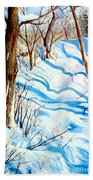Snow Shadows Beach Towel