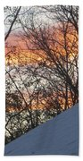 Snow Sunset Beach Towel