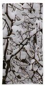 Snow Tree Beach Towel