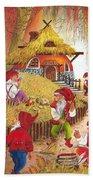 Snow White And The Seven Dwarfs Beach Towel