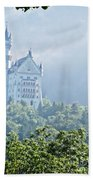 Snow White's Palace In Morning Mist Beach Towel