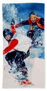 Snowboard Psyched Beach Towel