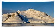 Snowcapped Mountain, Andvord Bay Beach Towel