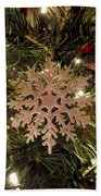 Snowflake Ornament Beach Towel
