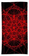 Snowflake Shape Comes From Frequency And Mass Beach Towel by Jason Padgett