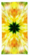 Snowflake Sunburst Beach Towel