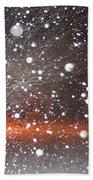 Snowflakes And Orbs Beach Towel
