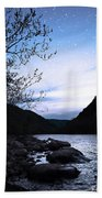 Snowflakes On The River Beach Towel