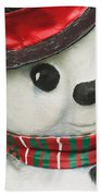 Snowman Beach Towel