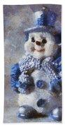 Snowman Peace Photo Art 01 Beach Towel