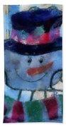 Snowman Photo Art 34 Beach Towel