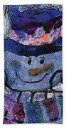 Snowman Photo Art 35 Beach Towel