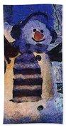 Snowman Photo Art 44 Beach Towel