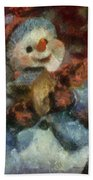 Snowman Photo Art 47 Beach Towel