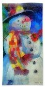 Snowman Photo Art 53 Beach Towel