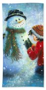 Snowman Song Beach Towel