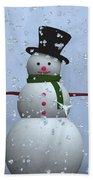 Snowman... Beach Towel