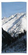 Snowwhite Mountain Top Beach Towel