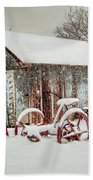 Snowy Day Beach Towel