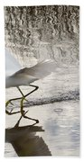 Snowy Egret Gliding Across The Water Beach Towel