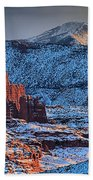 Snowy Fisher Towers Beach Towel