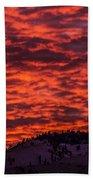 Snowy Mountain Sunset Beach Towel