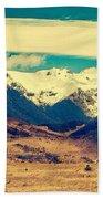Snowy Mountains Beach Towel