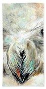 Snowy Owl - Female - Close Up Beach Towel by Daniel Janda