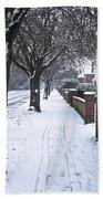 Snowy Path Beach Towel by Tom Gowanlock