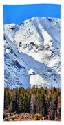 Snowy Ridge Beach Towel