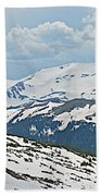 Snowy Terrain Near Top Of Trail Ridge Road In Rocky Mountain Np-co   Beach Towel