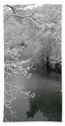 Snowy Wissahickon Creek Beach Towel