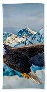 Soaring Bald Eagle Beach Towel by Gary Keesler