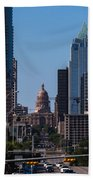 So Co View Of The Texas Capitol Beach Towel