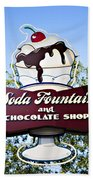 Soda Fountain Beach Towel