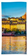 Sodermalm Skyline Beach Towel