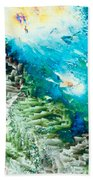 Sodium Thiosulphate Microcrystals Color Abstract Beach Towel