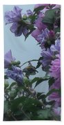 Soft Blues And Pink - Spring Blossoms Beach Towel