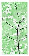 Soft Green Leaves Melody Beach Sheet