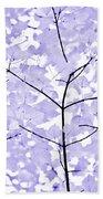 Soft Lavender Leaves Melody Beach Towel