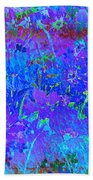 Soft Pastel Floral Abstract Beach Towel