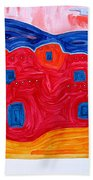 Soft Pueblo Original Painting Beach Towel
