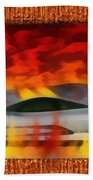 Solace Among Flames Beach Towel