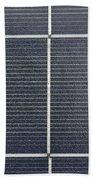 Solar Panel Collector Closeup View Beach Towel