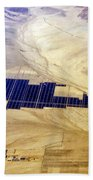 Solar Panels Aerial View Beach Towel