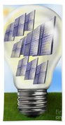 Solar Power Lightbulb Beach Towel