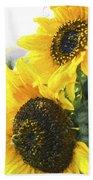 Solar Sunflowers Beach Towel