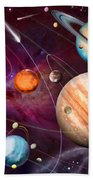 Solar System 2 Beach Towel