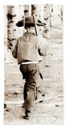 Soldier Boys Wooden Rifles Beach Towel